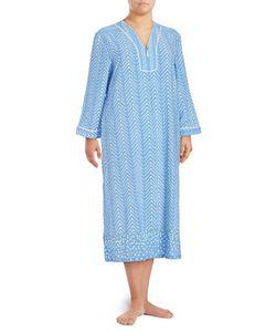 Oscar de la Renta | Printed Long-Sleeve Nightgown