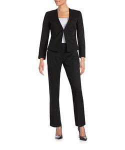 Tahari Arthur S. Levine   Petite Pinstriped Suit