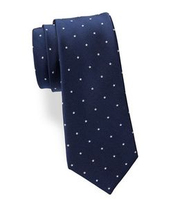 Lord & Taylor The Mens Shop | Star-Patterned Silk Tie
