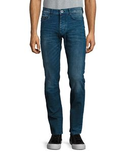 Calvin Klein Jeans | Slim-Fit Whiskered Jeans