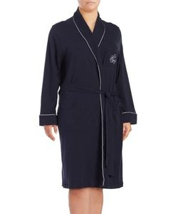 Lauren Ralph Lauren | Plus The Hartford Robe With Quilted Collar And Cuffs