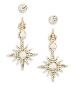 Nanette Lepore | Starburst Front Back Earrings