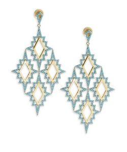 Noir   Turquoise Drop Earrings