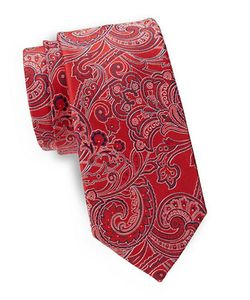 Lord & Taylor The Mens Shop | Paisley Print Silk Tie