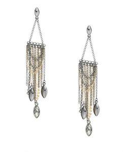 A.B.S. By Allen Schwartz | Bitter Not Sweet Draped Chain Fringe Chandelier Earrings