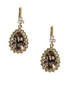 Marchesa | Vintage Rose Austrain Glass Drop Earrings