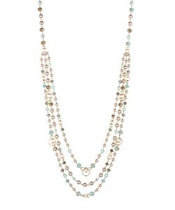 Carolee | Sands 4mm Faux Beaded Swag Necklace