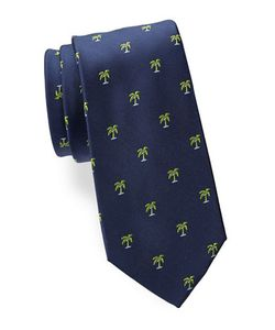 Lord & Taylor The Mens Shop | Palm Tree-Patterned Silk Tie