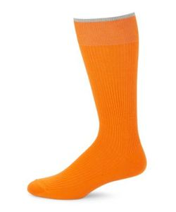 Black Brown | Contrast Cotton-Blend Socks