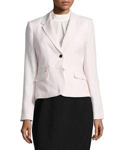 Calvin Klein   Two-Button Linen Blend Jacket