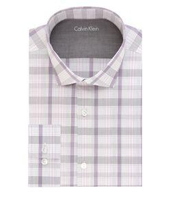 Calvin Klein | Plaid Extreme Slim-Fit Cotton-Blend Dress Shirt