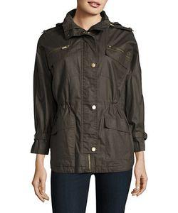 Michael Michael Kors | Three Fourth Sleeve Hooded Anorak Jacket