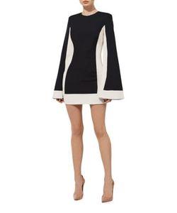 Misha Collection | Joy Colorblock Bell Sleeve Mini Dress