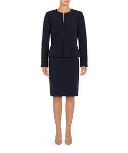 Tahari Arthur S. Levine | Crepe Skirt Suit Set