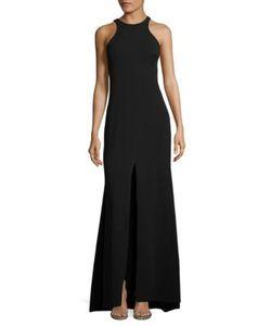 Vera Wang | Crepe Halter Gown