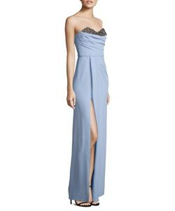 Marchesa Notte | Embellished Strapless Gown