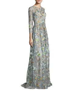 Marchesa Notte | Sleeveless Embellished Gown