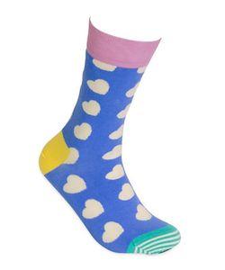 HAPPY SOCKS | Diagonal Heart Socks