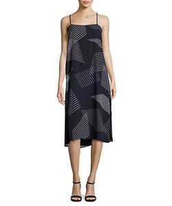 DKNY | Embroidered Striped Dress