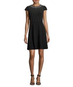Karl Lagerfeld | Beaded Cap Sleeved Dress