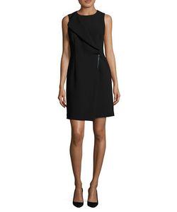 DKNY | Foldover Panel Mock Wrap Sheath Dress