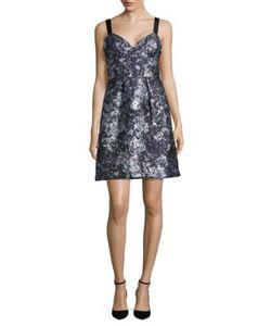 Vera Wang | Textured A-Line Dress