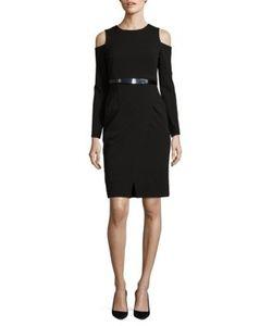 DKNY | Cold Shoulder Long Sleeved Wrap Dress