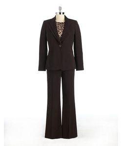 Tahari Arthur S. Levine   Peak Lapel One-Button Pants Suit