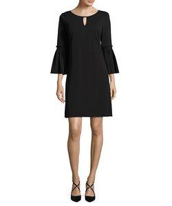 Calvin Klein | Bell Sleeved Keyhole Dress