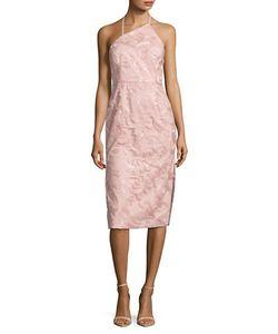 Vera Wang | Embroidered Halterneck Sheath Dress