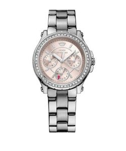 Juicy Couture | Ladies Silvertone Crystallized Pedigree Watch