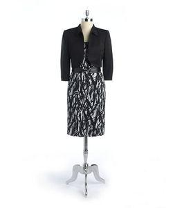 Tahari Arthur S. Levine   Solid Button-Accented Suit