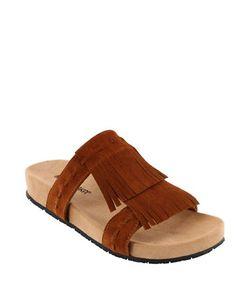 Minnetonka | Daisy Suede Platform Slide Sandals