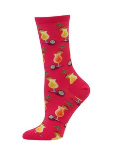 Hot Sox | Pina Colada-Print Crew Socks