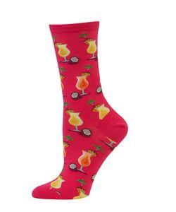Hot Sox | Pina Colada-Print Crew Socks