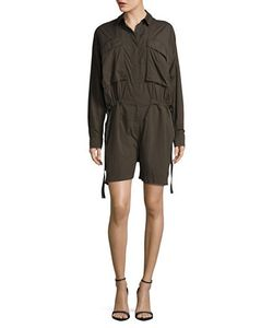 Dkny Pure | Long-Sleeve Nylon Romper