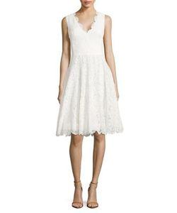 Vera Wang | Scarlet Lace A-Line Dress