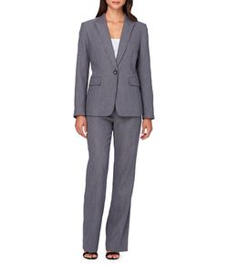 Tahari Arthur S. Levine | Two-Piece Solid Jacket And Pants Set