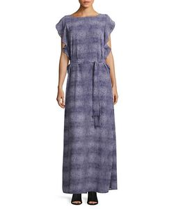 Michael Michael Kors | Croco-Print Belted Maxi Dress