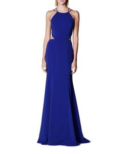 Marchesa Notte | Solid Fit--Flare Gown