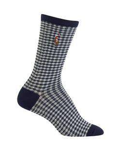 Ralph Lauren | Gingham-Check Socks