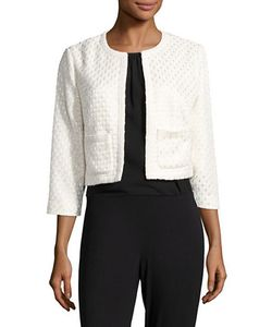 Karl Lagerfeld | Open Front Textured Jacket