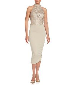 Nicole Bakti   Lace-Trimmed Sheath Dress