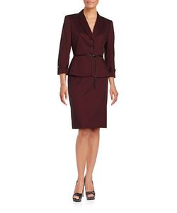 Tahari Arthur S. Levine | Textu Two-Piece Jacket And Skirt Set