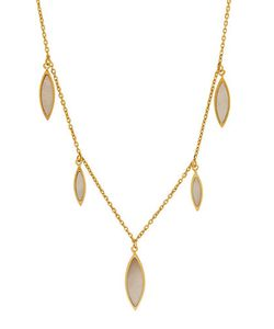 Lord & Taylor | Mother Of Pearl And 14k Teardrop Dangle Necklace