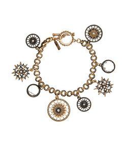 Jenny Packham | Hematite 9k Goldplated Charm Bracelet