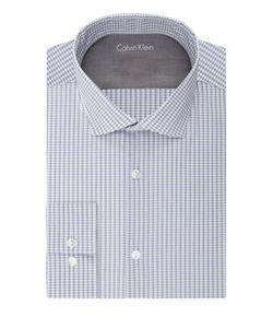 Calvin Klein | Slim Fit Grid Print Dress Shirt