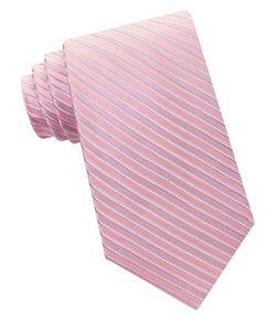 Michael Michael Kors | Ribbed Striped Silk Tie