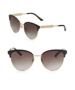 Gucci | 57mm Horn-Rimmed Sunglasses
