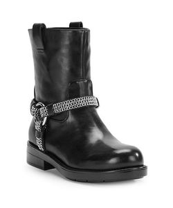 KARL LAGERFELD PARIS | Vernet Leather Ankle Boots